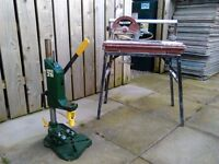 Mortus drill press and wet tile cutter
