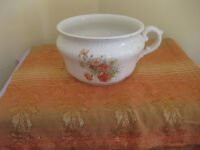 Vintage chamber pot with carnation picture