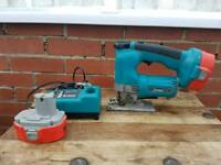 Makita,4334D,cordless jigsaw with 2 batteries and holder
