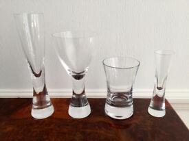16x LSA HANDMADE GLASSES - 4x Champagne, 4x Wine Goblet, 4x Tumbler, 4x Liqueur