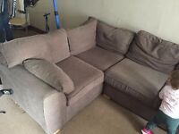 Corner Sofa (Sofabed), Brown - good condition