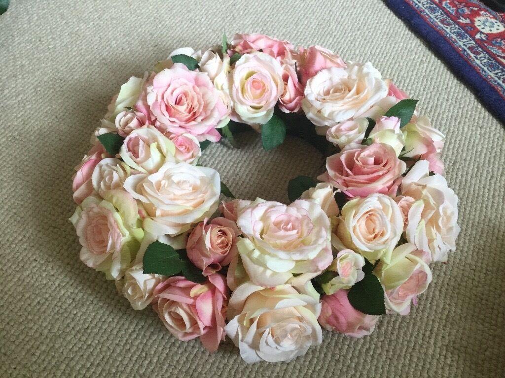 Artificial silk flower candle ring 14 for wedding in new milton artificial silk flower candle ring 14 for wedding mightylinksfo
