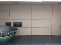 Ceramic Wall tiles smooth mat finish in a taupe colour
