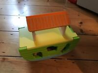 Wooden Noahs Ark plus wooden animals and characters - as new condition