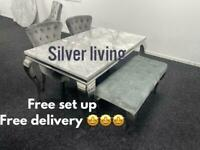 Grey Marble table and chair sets from £749 free delivery