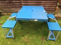 Folding picnic / camping table. Seats 4
