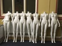 Job lot of various shop mannequins and parts