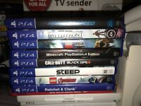 Slimline playStation 4 and 8 games