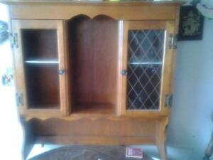 WOOD BUFFET ANTIQUE STYLE SECTION CUPBOARD 92x89x23cm