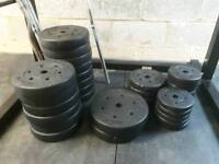 Vyinl Weight Plates and Bars totalling 110kg