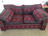 John Lewis Red Fabric 2&3 piece suite