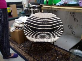 Vintage woven chair - 1960s