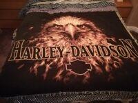 Harley Davidson blanket wall hanging/throw as new ideal xmas