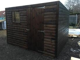 10ft x 8ft pent shed heavy duty installation available