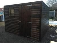 10ft x 8ft Pent Shed, Heavy Duty. Installation available.