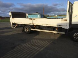 Wagon truck back body with drop sides and tail lift in good condition