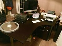 Large black ikea desk