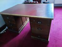 For Sale Antique Pedestal Desk - price now reduced