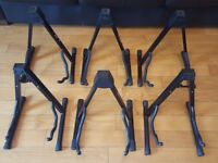 Set of 6 A-Frame foldable guitar stands. To fit various guitar types and sizes. Bargain price!