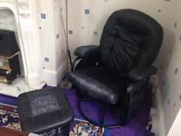 Rocking chair with matching rocking stool