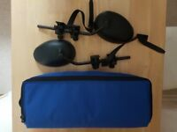A pair of Maypole towing mirrors complete with padded waterproof carrying bag.