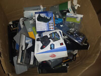 A big box of assorted items most new and boxed