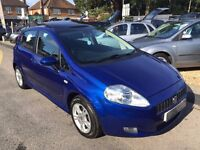 2007/57 FIAT GRANDE PUNTO 1.4 DYNAMIC SPORT 5 DOOR AUTOMATIC,BLUE,GREAT SPEC, LOOKS AND DRIVES WELL