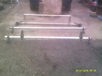 Transit van ladder rack 6ft width roller at back easy load ladders may fit other vans