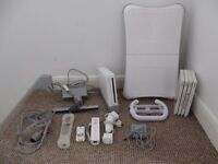 Nintendo Bundle Wii Console and games with Fit board