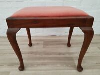 Queen Anne Style Dressing Table Stool (DELIVERY AVAILABLE FOR THIS ITEM OF FURNITURE)