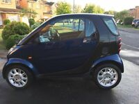 Smart For Two Truestyle,700cc Blue/Black. Full Mecedes Service History.9m MOT 6m tax (30 Year)