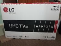 """LG 49"""" 4K UHD Smart TV, builtin WiFi & Freeview, Brand new with box"""