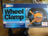 Streetwise wheel clamp fits 13in to 17in wheels new in box