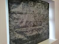 Roman Blind - Grey 116cm wide 110cm drop