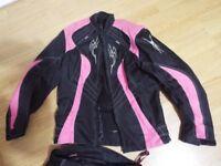 Ladies Motorbike Gear - Jacket + Trousers