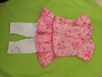 GIRLS 18 month 3 POMMES summer outfit