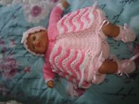 NEW HANDKNIT CLOTHES TO FIT BABY BORN ANNABELL 12/13 INCH DOLLS