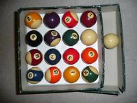 full size pool balls, good quality