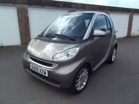 smart car fortwo passion silver grey 2009