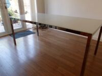 IKEA TORSBY Glass topped Dining Table 1800x850x740