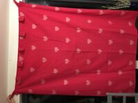 "Next tab top Glitter Heart Curtains, 135cm x 183cm/53"" x 72"". Perfect condition"