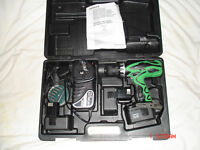 Brand New Hitachi DS14DVF3 14.4V Drill/Driver complete with 3 x 1.4Ah Batteries, Charger and Kitbox.