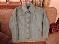 Ladies knitted Aran cardigan