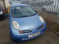 NISSAN MICRA K12 2004 3 DOOR IN BLUE 1.0 PETROL FOR BREAKING FOR PARTS ONLY