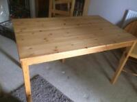 Dining table and chairs - pine