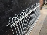 Wrought iron railings / Metal fencing / Galvanised fence / Garden / Gates / Driveway / Patio / Bow