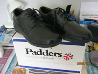 Brand New Mens Leather Black Padders Size 9