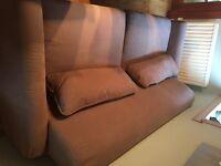 Brown 3 seater sofa. .