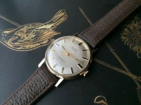 Beautiful Vintage 9k 9ct solid 375 Avia Mens Swiss mechanical watch REDUCED