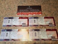 2 Wales vs Australia & 2 Wales vs South Africa Rugby Autumn International Tickets. Will split games